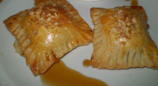 Pastas de hojaldre de queso y cebolla