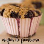 muffins de frambuesa con Thermomix
