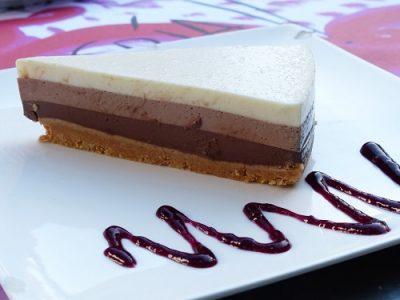 Receta de tarta de tres chocolates con la Thermomix