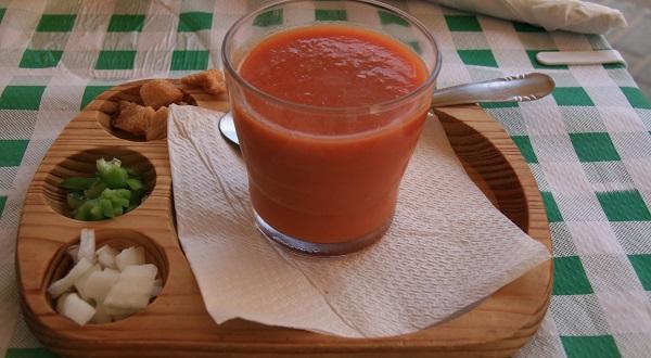 Receta de gazpacho con la Thermomix