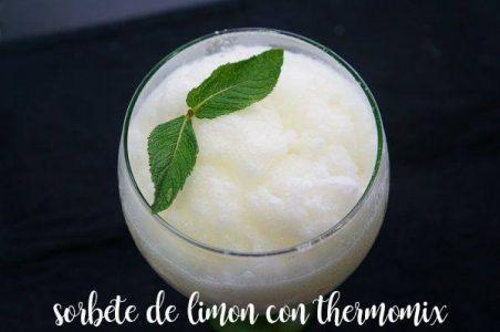 Sorbete de limón con la Thermomix