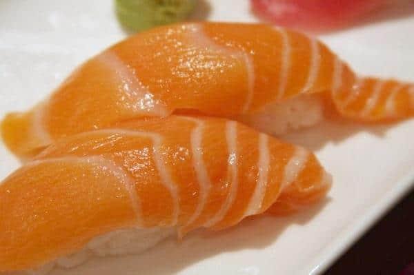 Receta de nigiris de salmón con la Thermomix