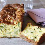 Pastel de calabacin y queso chedar