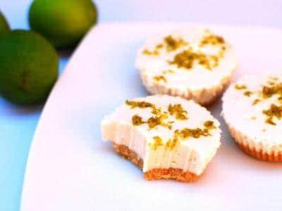 Cheesecake vegano de lima y sin gluten con thermomix