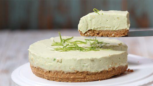 cheesecake de aguacate y limón