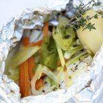 Receta de papillote de verduras en la Thermomix