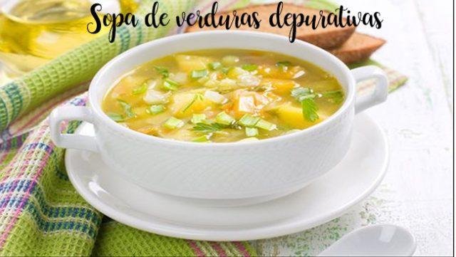 Sopa de verduras depurativas