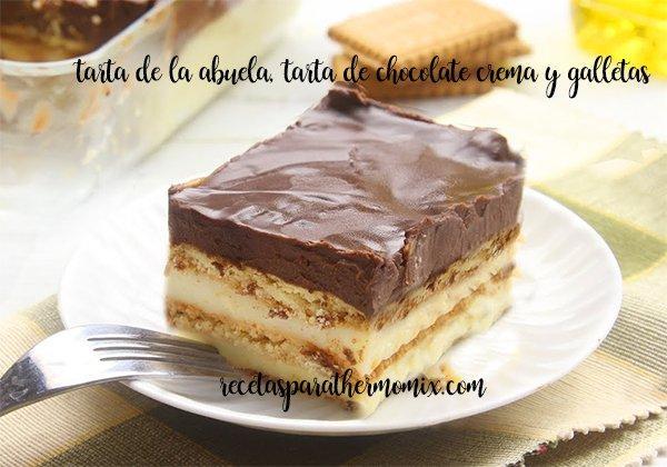 Tarta de Chocolate y galleta, tarta de la abuela
