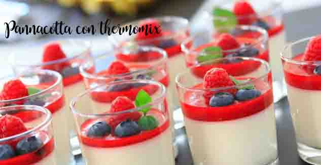 Pannacotta con thermomix