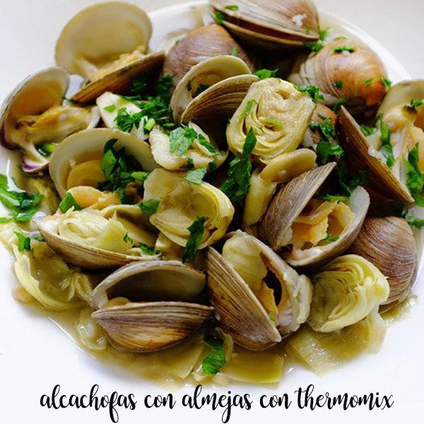 Alcachofas con almejas con thermomix