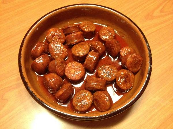Chorizo a la sidra con la Thermomix