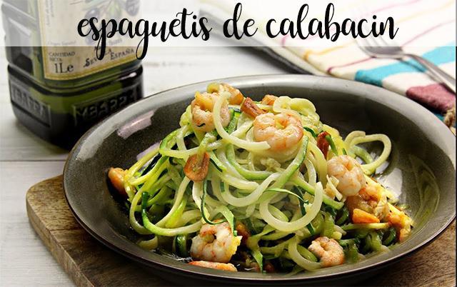 espaguetis de calabacín con thermomix