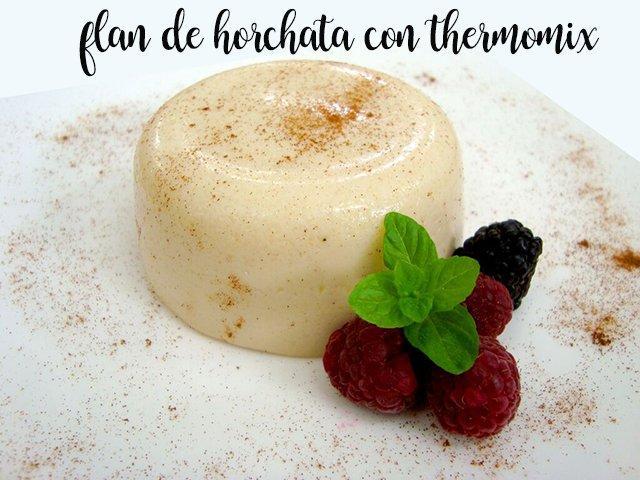 Flan de Horchata con la thermomix