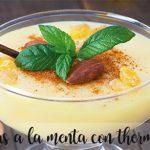 Natillas a la menta con thermomix