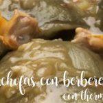 Alcachofas en salsa verde con berberechos con Thermomix