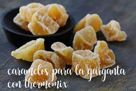 Caramelos para la garganta de miel y jengibre con thermomix