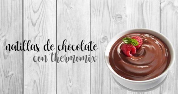 Natillas de chocolate con la Thermomix