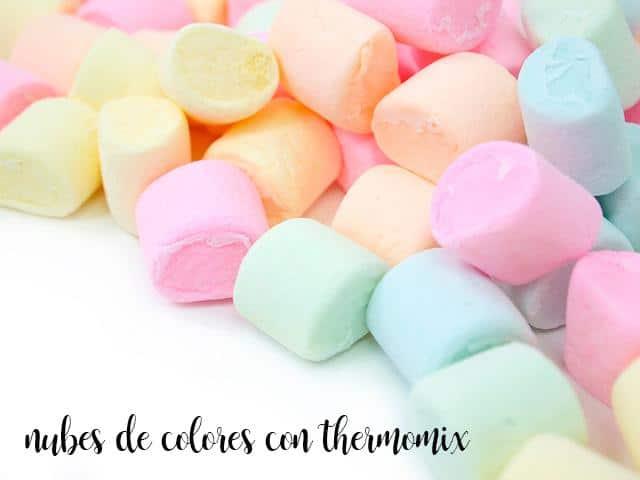 Nubes de colores con thermomix