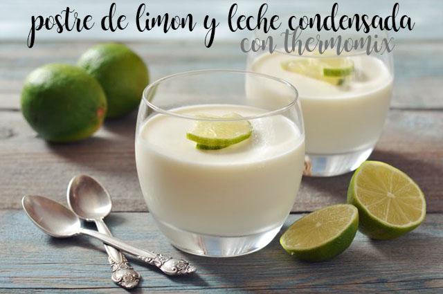Postre de Limon y leche condensada con thermomix