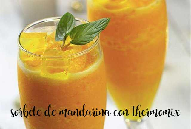 Sorbete de mandarina con thermomix
