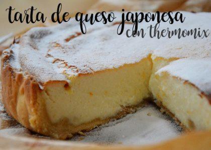 Tarta de queso japonesa con thermomix