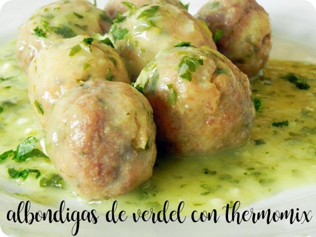 Albóndigas de verdel o caballa en salsa verde con thermomix