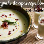 Gazpacho de espárragos blancos con thermomix
