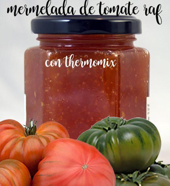 Mermelada de tomate raf con thermomix