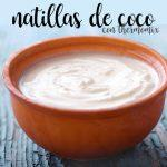 Natillas de Coco con thermomix