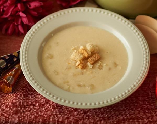 sopa fria de coco