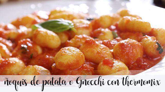 ñoquis de patata o Gnocchi con thermomix