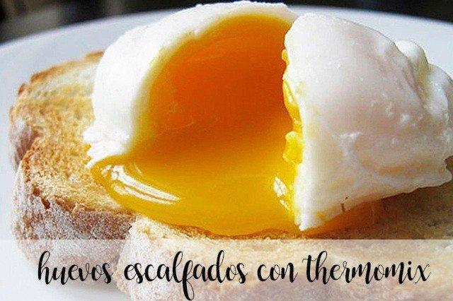 Huevos escalfados con Thermomix