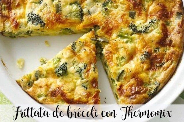 Frittata de brócoli con Thermomix