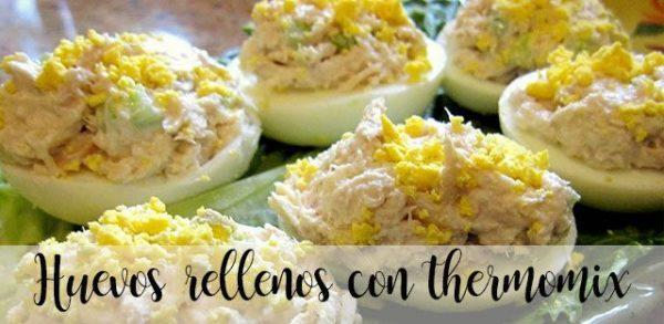 Huevos rellenos con thermomix