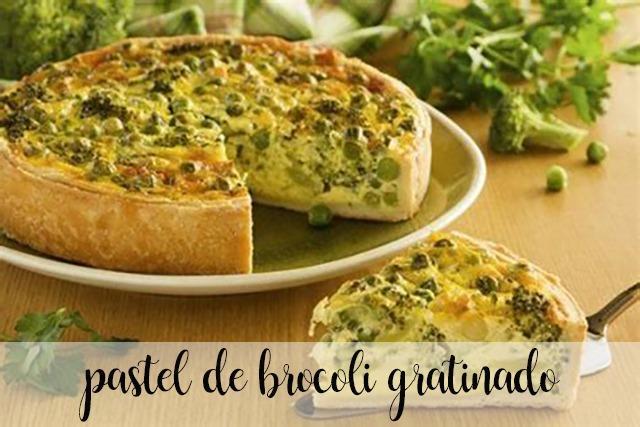 Pastel de Brócoli gratinado con pavo