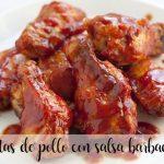 alitas de pollo en salsa baracoa con thermomix