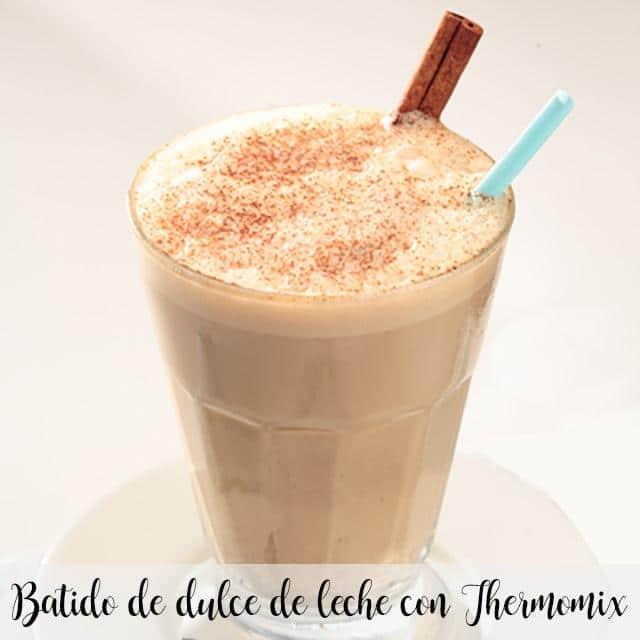 Batido de dulce de leche con Thermomix