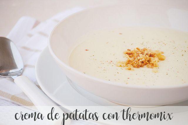 Crema de patatas con thermomix