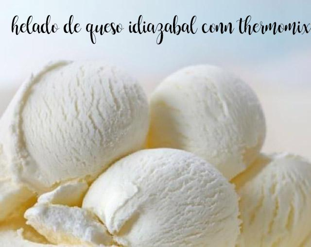 Helado de queso idiazabal con thermomix