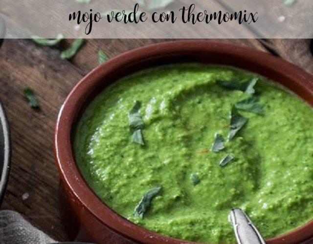 preparar mojo verde con la Thermomix