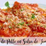 Pechugas de Pollo en Salsa de Tomate Frito