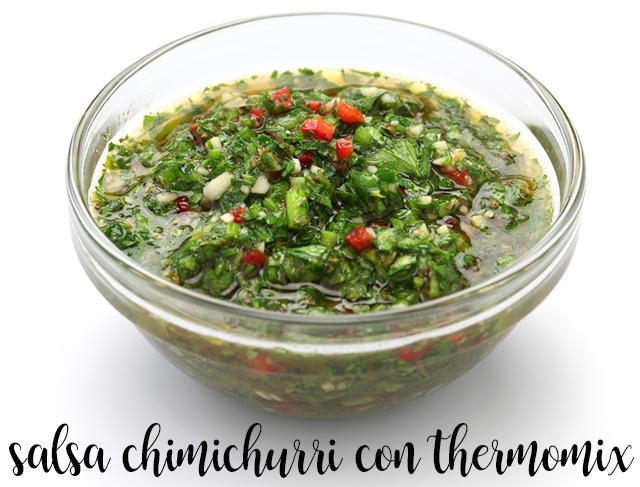 salsa chimichurri con thermomix