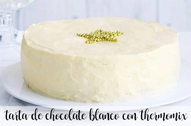 Tarta de chocolate blanco con Thermomix