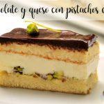 Tarta de chocolate y queso con pistachos con thermomix