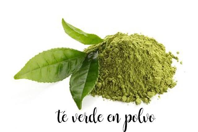 te verde en polvo