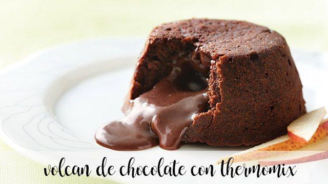 Volcán de chocolate con thermomix