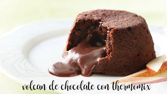 Volcán de chocolate con thermomix