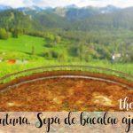 Zurrukutuna, Sopa vasca de bacalao ajo y pan con Thermomix