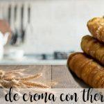 Cañas rellenas de crema pastelera con thermomix