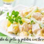 ensalada de pollo y patatas con thermomix